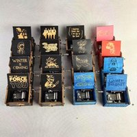 크리 에이 티브 클래식 목조 음악 상자 모든 종류의 그림들은 동기 부여 된 해리 포자 장식품 음악 상자 FWC6898