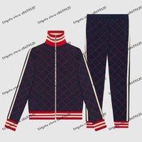 Mens Tracksuit 땀 복용 스포츠 패션 남자 후드 티 재킷 캐주얼 트랙스 조깅 재킷 바지 세트 스포츠 슈트 크기 QAQ