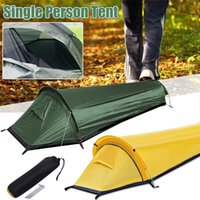 Tents And Shelters Outdoor Single Folding Camping Tent Aluminum Pole Oxford Cloth Windproof Rainproof Portable Sleeping Bag Account