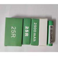 جودة عالية INR18650 25R 18650 بطارية 2500mAh 20a 3.7 فولت الخضراء مربع استنزاف بطاريات ليثيوم قابلة للشحن لسامسونج في المخزون