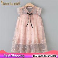 Bärleiter Mädchen Kleid 2021 Neue Sommer Kinder Elegant Party Outfits Kinderkleidung Prinzessin Vestidos Mädchen Baby Kleidung für 3 7Y C0223