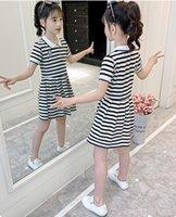 Summer 2021 Stpriped Girl Dress Kids designer Clothes Princess Dresses Clothing Girls Preppy Style Skirt Costume Children Clothe