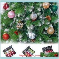 Festive Supplies & Garden12Pcs Tree Pendants Decor Ball Bauble Christmas Party Hanging Ornament Decorations For Home Xmas Decoration1 Drop D