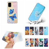 Octagonal Watercolor Oil Color Ink Painting Flower Cases For Samsung S21 Ultra S20 FE Note 20 A21S F62 A52 A72 A42 A32 A81 A91 A51 A71 Tiger Animal Panda Soft TPU Cover