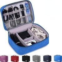 여행 디지털 스토리지 가방 휴대 전화 어댑터 충전기 케이블에 대 한 휴대용 전자 액세서리 주최자 가방 이어폰 아이폰 코드