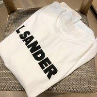 Donne Estate Bianco Lettera di cotone Stampa T-Shirt Ladies Casual Streetwear Moda Tees Amanti Amanti O-Collo Manica corta Manica corta ML40
