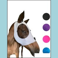 Horse Pet Supplies Home & Gardenhorse Fly Mask With Ears Comfort Smooth Elasticity Lycra Grip Soft Mesh Stretch Bug Eye Saver Uv Protection