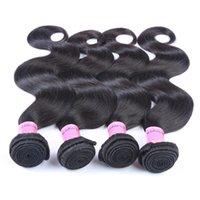 Human Hair Bundles Remy Hair Weaves Extensions 4pcs Lot Natural Black Straight Body Hair Weaves