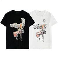 2021 Moda Moda T Shirts Diseñadores Hombres S Ropa Negra Blanco Camisetas de manga corta Casual Hip Hop Streetwear T-Shirt