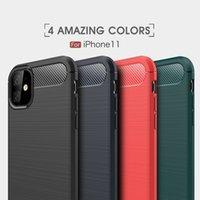 Wholesale Carbon Fiber Case iPhone 12 Pro Max Phone Cases For 11 Mini X Xr Xs 6 6S 7 8 Plu Cover Samsung S21 S20 Ultra S10 S9 Plus S8 Note 20 10 9