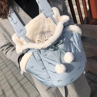 Cat Carriers,Crates & Houses Pet Bag Out Portable Dog Backpack With Shoulder And Chest In Winter Warm Small Washable