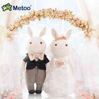 Metoo Tiramisu coelho vestido de casamento boneca de casamento presente de casamento de brinquedo de pelúcia