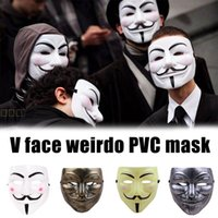 Halloween Mask Anonymous Carnival Steampunk Cosplay Costumes Anime For The Face Headcovers Party V Vendetta Props