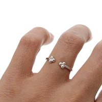 Wedding Rings Arrived 925 Sterling Silver Simple Jewelry Design Three Tiny Dots Minimal Delicate Open Midi Girl Lady Women