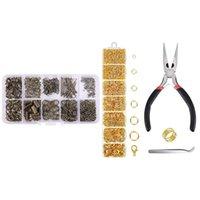 기타 홈 장식 1 점프 링 및 랍스터 Clasps 키트 쥬얼리 수리 도구 클립 걸쇠 오픈 귀걸이 후크