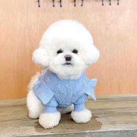Dog Apparel Cat Clothing Winter Puppy Small Sweater Cardigan Knit Yorkies Bichon Pomeranian Shih Tzu Maltese Schnauzer Coat