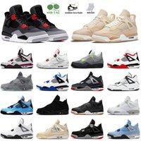 Air Jumpman Jordan 4 Chaussures de basketball 4s Haute Qualité Jorden Sneakers Infrared White Oreo Université Blue Voile Balck Chat Off Mens Mens Womens Og Nik Retro Sports