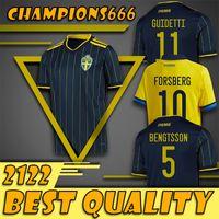 20 21 Suecia Soccer Jersey Ibrahimovic Kallstrom Larsson Football Jerseys National Team Toivonen Marcus Berg Home Away Mens Shirts Uniformes