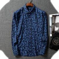 Luxurys Designers Dress Shirt Menswear Fashion Society Black Men Solid Color Business Casual Mens Long Sleeve M-3XL#018