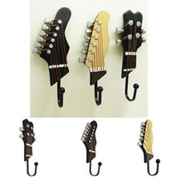 PCS Set Guitar Heads Hook Wall Mounted For Watch Keys Sundries Bag Purse Music Home Resin Clothes Hat Hanger Hooks & Rails