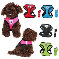 Dog Collars & Leashes Harness And Leash Set Breathable Cat Mesh Vest Collar Small Puppy Chest Strap Chihuahua Nylon Traction Rope Pet Arnes