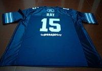 Billig billige Männer Toronto Argonauts Ricky Ray # 15 Blue College Jersey Größe S-4XL oder benutzerdefinierte Name oder Nummer Jersey NCAA