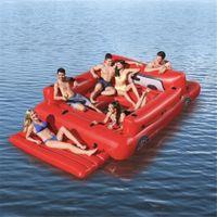 3.81x2.62 متر 6 شخص نفخ العملاق سيارة شاحنة بركة تعويم جزيرة السباحة بحيرة الشاطئ حزب العائمة قارب المياه اللعب مراتب الهواء