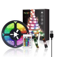 Strips USB Color Waterproof LED Light With 5V 1 2 3 4 5M RGB Color-changing TV Backlight 24K Remote Control