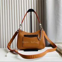 Marelle Handbag Gold Miel Quartz Blanco Bolsos negros Bolsos de hombro de cuero de grano Honey Cross Cross Body Bolsa Diseñadores para mujer Bolsos Monederos M80794