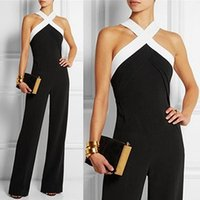 Women's Jumpsuits & Rompers ZANZEA Women 2021 Summer Pants Sexy Halter Off Shoulder Sleeveless Long Casual Playsuits Plus Size Overalls
