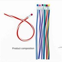 7 Adet / paket Plastik Esnek Kalem Yedi Parça Set Oyuncaklar Hediyeler Öğrenci Renkli Sihirli Bendy Yumuşak Kalemler Sil Gergi Seti Okul Kapalı DWA5240