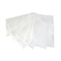 100 Pack 925 Polido de pulido de plata Polaco, limpiadores, limpiador, pulimentos Blanco 11x7cm Herramientas de cuidado de la joyería plasíticas plasíticas de envoltura individual.