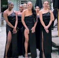 20201 Son Bir Omuz Bölünmüş Yüksek Gelinlik Modelleri Ruffles Bahçe Üyesi Kadınlar Düğün Konuk Akşam Parti Abiye Maif Onur Elbise Artı Boyutu
