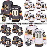 Custom Vegas Golden Knights Hockey Jerseys 29 Marc Andre Fleury 7 Alex Pietrangelo 71 William Karlsson Mark Stone Cualquier número y nombre