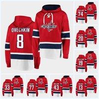 Alexander Ovechkin Hockey Hoodie Jerseys Capitales à Washington John Carlson Braden Holtby T.J. Oshie Evgeny Kuznetsov Tom Wilson