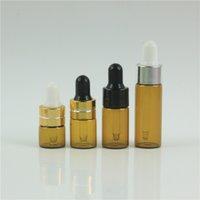 50pcs lot 1ml 2ml 3ml 5ml perfume Glass Bottles With Dropper For Travel Protable Test Essential Oil Glass Container
