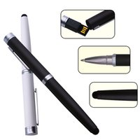 Capacitive Pen USB Flash Drives 2.0 Ballpoint Pendrive 128mb 16gb 8gb 4gb 32gb Business Gifts Memory Stick