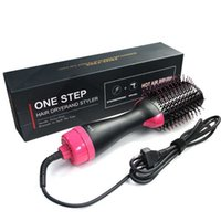 Electric Hair Brushes Multi Function Air Comber Straightener Dryer
