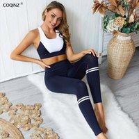 Esporte Fitness 2 Pc Set Workout Roupas para Tracksuit Mulheres Dois Peça Ginásio Jogadores Terno Mulheres Vestuário Ativo Desgaste ZC2124 Femininas Tracksuits