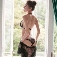 Skirt Lace transparent Sexy bikini suit underwear adult