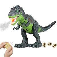 Remoto Controle Dinossauro Brinquedos Spray Tyrannosaurus Rex RX RC Modelo de Robô Animal Colocando Ovos de Iluminação Kids Kids Pet Boys presentes q0823