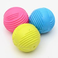 Footprint Rubber Dog Ball Toy Bite Resistant Chew Toy for Small Dogs Puppy Game Play Squeak Interactive Pet Toy BWD7470