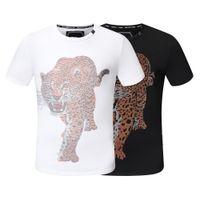 2021 남자 티셔츠 다이아몬드 해골 짧은 소매 탑 유럽 아메리칸 인쇄 여성 커플 고품질 티셔츠 M-3XL