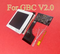 V2.0 For GBC 5 Segment Adjustable Brightness Screen Replacement For GBC High Light Screen LCD Modification Kit Accessories