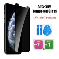 Privacy Anti-spy Tempered Glass Screen Protector for iPhone 12 11 Pro Max XR XS X 7 8 Plus