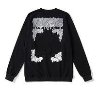 OFF Mode Sweatshirts Trend Hoodies Hip Hop Brand Offs Fall / Winter Druck x Lose Schwarz Weiß Hoodie Für Männer Frauen Paare Ow Sweatshirt