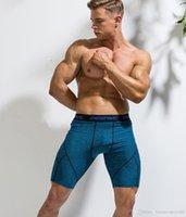 2020NOPESALE Spor Gömlek Erkekler Koşu Şort Fitness Şort Erkek Sıkıştırma Şort Fitness Koşu Spor Eğitim Iç Çamaşırı Spandex Sıkı Fit