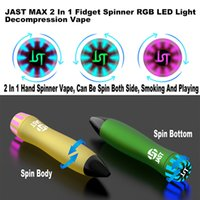 Disposable vape Pen E Cigarettes Jast Max 2 In 1 Fidget Spinner RGB LED Light 8 Color2000 Puffs 900 mAh Battery 6ml capacity pod VS puff bar bang xxl