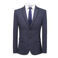 Men's Suits & Blazers 5XL Formal Clothes Fashion Stripe Single-Breasted Suit Men Casual Business Jacket Groom's Groomsman Wedding Blazer