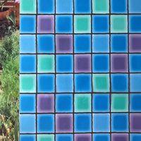 창 스티커 Nuelife 컬러 스퀘어 컬러 스퀘어 스 정트 접착제없는 유리 페이스트 욕실 침실 주방 불투명 프라이버시 필름 보호